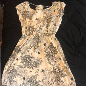 Cream butterfly dress